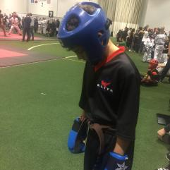 Enzo preparing to fight